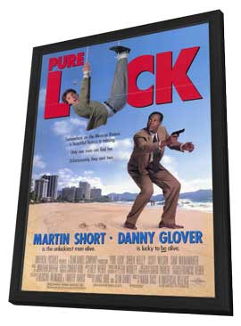 Pure Luck - 11 x 17 Movie Poster - Style B - in Deluxe Wood Frame