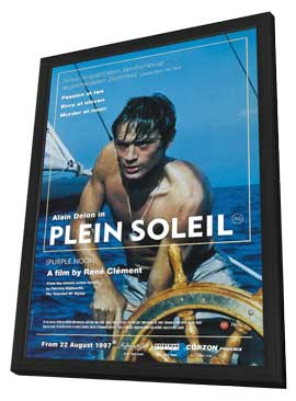 Purple Noon - 11 x 17 Movie Poster - UK Style A - in Deluxe Wood Frame