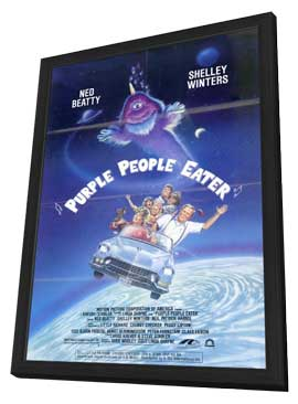 Purple People Eater - 11 x 17 Movie Poster - Style A - in Deluxe Wood Frame