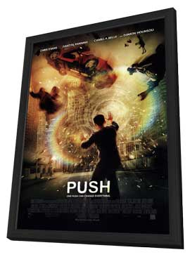 Push - 27 x 40 Movie Poster - Style A - in Deluxe Wood Frame