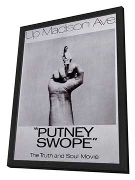 Putney Swope - 27 x 40 Movie Poster - Style A - in Deluxe Wood Frame