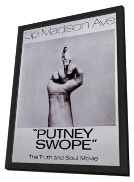Putney Swope - 11 x 17 Movie Poster - Style A - in Deluxe Wood Frame