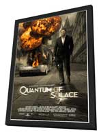Quantum of Solace - 27 x 40 Movie Poster - Style C - in Deluxe Wood Frame