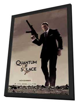 Quantum of Solace - 27 x 40 Movie Poster - Style E - in Deluxe Wood Frame