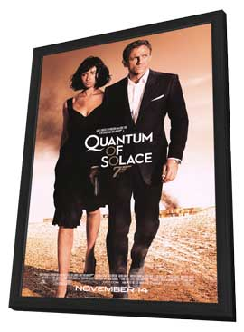 Quantum of Solace - 11 x 17 Movie Poster - Style I - in Deluxe Wood Frame