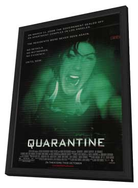 Quarantine - 11 x 17 Movie Poster - Style A - in Deluxe Wood Frame