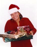 Queen Latifah - Queen Latifa with Christmas Gifts