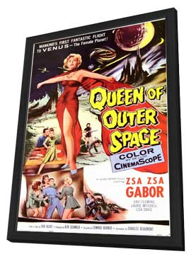 Queen of Outer Space - 11 x 17 Movie Poster - Style A - in Deluxe Wood Frame