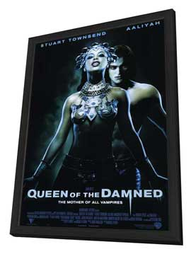 Queen of the Damned - 11 x 17 Movie Poster - Style A - in Deluxe Wood Frame