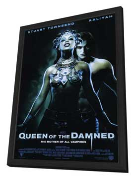 Queen of the Damned - 27 x 40 Movie Poster - Style A - in Deluxe Wood Frame