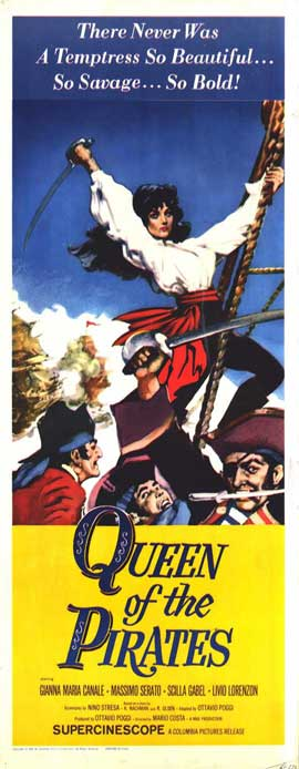 Queen of the Pirates - 14 x 36 Movie Poster - Insert Style A