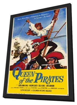 Queen of the Pirates - 27 x 40 Movie Poster - Style A - in Deluxe Wood Frame
