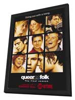 Queer As Folk - 11 x 17 TV Poster - Style D - in Deluxe Wood Frame