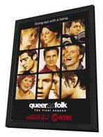 Queer As Folk - 27 x 40 TV Poster - Style D - in Deluxe Wood Frame