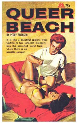 Queer Beach - 11 x 17 Retro Book Cover Poster