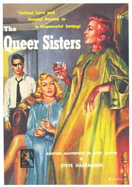 Queer Sisters - 11 x 17 Retro Book Cover Poster