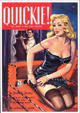 Quickie! - 11 x 17 Retro Book Cover Poster