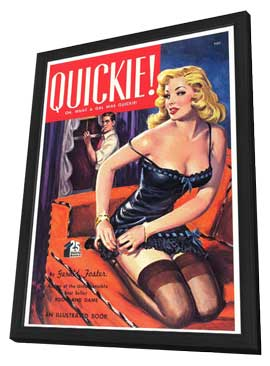 Quickie! - 11 x 17 Retro Book Cover Poster - in Deluxe Wood Frame