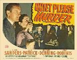 Quiet Please: Murder - 11 x 17 Movie Poster - Style A