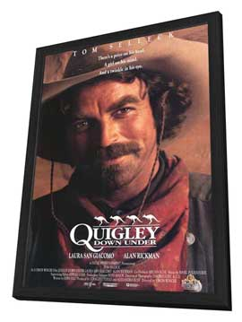 Quigley Down Under - 11 x 17 Movie Poster - Style A - in Deluxe Wood Frame