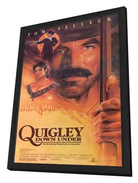 Quigley Down Under - 11 x 17 Movie Poster - Style B - in Deluxe Wood Frame