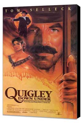 Quigley Down Under - 27 x 40 Movie Poster - Style B - Museum Wrapped Canvas