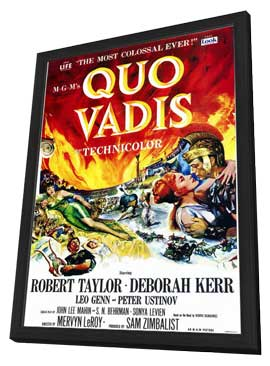 Quo Vadis - 11 x 17 Movie Poster - Style A - in Deluxe Wood Frame
