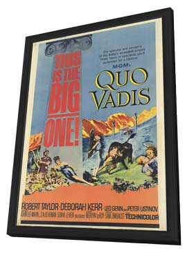 Quo Vadis - 27 x 40 Movie Poster - Style A - in Deluxe Wood Frame