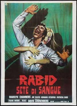 Rabid - 27 x 40 Movie Poster - Italian Style A