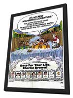 Race For Your Life, Charlie Brown - 11 x 17 Movie Poster - Style A - in Deluxe Wood Frame