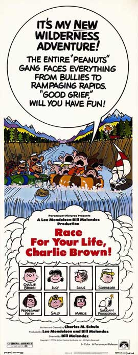 Race For Your Life, Charlie Brown - 14 x 36 Movie Poster - Insert Style A