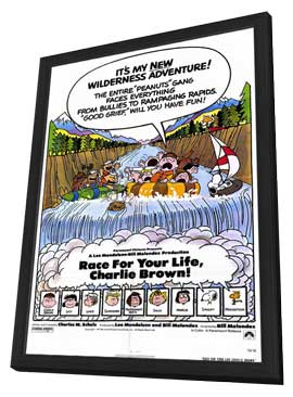Race For Your Life, Charlie Brown - 27 x 40 Movie Poster - Style A - in Deluxe Wood Frame