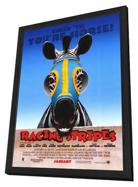 Racing Stripes - 11 x 17 Movie Poster - Style A - in Deluxe Wood Frame