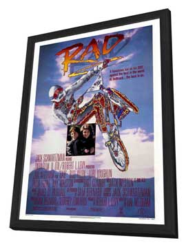 Rad - 27 x 40 Movie Poster - Style A - in Deluxe Wood Frame