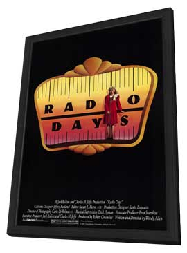 Radio Days - 11 x 17 Movie Poster - Style A - in Deluxe Wood Frame