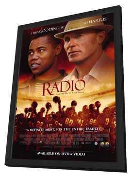 Radio - 11 x 17 Movie Poster - Style B - in Deluxe Wood Frame