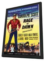 Rage at Dawn - 11 x 17 Movie Poster - UK Style A - in Deluxe Wood Frame
