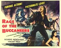 Rage of The Buccaneers - 22 x 28 Movie Poster - Half Sheet Style A