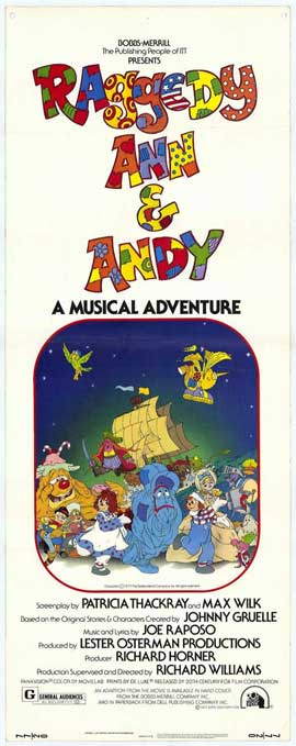 Raggedy Ann and Andy - 14 x 36 Movie Poster - Insert Style A