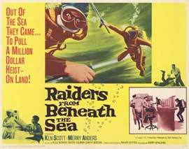 Raiders From Beneath the Sea - 11 x 14 Movie Poster - Style B
