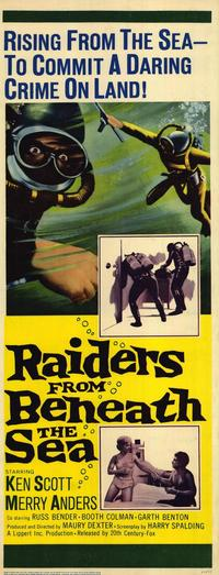 Raiders From Beneath the Sea - 14 x 36 Movie Poster - Insert Style A