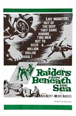 Raiders From Beneath the Sea - 11 x 17 Movie Poster - Style B