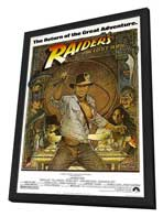 Raiders of the Lost Ark - 11 x 17 Movie Poster - Style C - in Deluxe Wood Frame