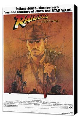 Raiders of the Lost Ark - 11 x 17 Movie Poster - Style A - Museum Wrapped Canvas