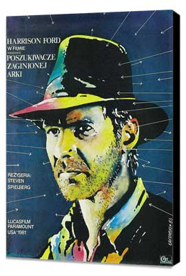 Raiders of the Lost Ark - 11 x 17 Movie Poster - Polish Style C - Museum Wrapped Canvas
