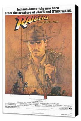 Raiders of the Lost Ark - 27 x 40 Movie Poster - Style A - Museum Wrapped Canvas