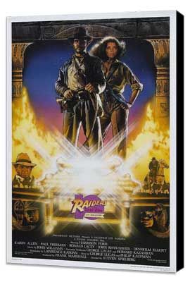 Raiders of the Lost Ark - 27 x 40 Movie Poster - Style B - Museum Wrapped Canvas