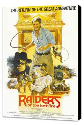 Raiders of the Lost Ark - 27 x 40 Movie Poster - Style C - Museum Wrapped Canvas