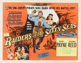 Raiders of the Seven Seas - 22 x 28 Movie Poster - Half Sheet Style A
