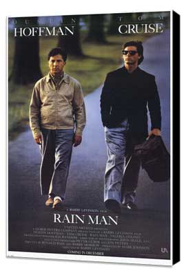 Rain Man - 11 x 17 Movie Poster - Style A - Museum Wrapped Canvas